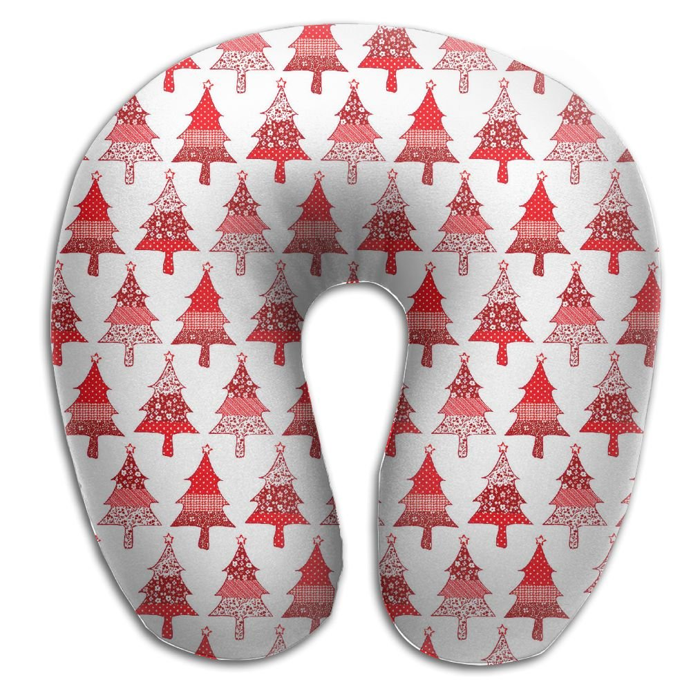 Laurel Neck Pillow Christmas Tree Travel U-Shaped Pillow Soft Memory Neck Support for Train Airplane Sleeping