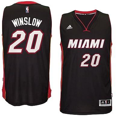 3cb4daf4 Justise Winslow Miami Heat #20 Black Youth Adidas Swingman Road Jersey  (Medium 10/