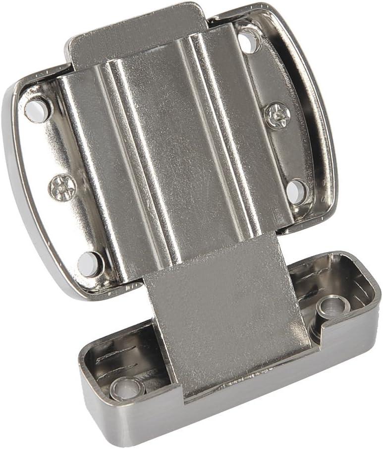 porte de placard convient pour diff/érentes portes Verrou de porte antivol en acier inoxydable bross/é pour porte de salle de bain argent porte de placard