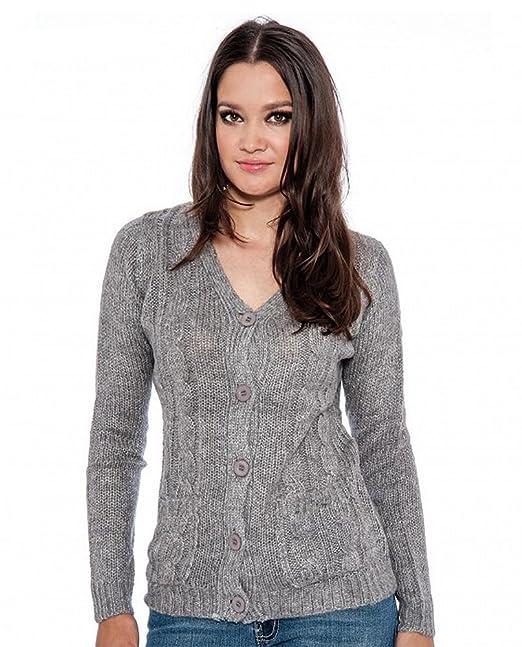 Amazon.com: Chaqueta de punto para mujer, abrigo frío de ...