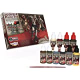 The Army Painter Zombicide Paint Set, 10 Dropper Bottles of Miniature Paint with Free Paintbrush, High-Pigment Zombicide Blac