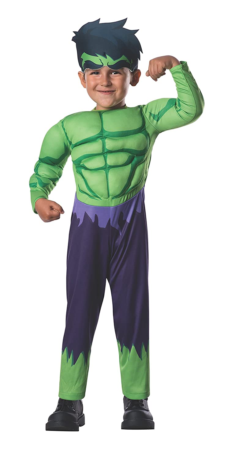 Marvel Rubie's Costume Baby Boy's Classics Avengers Assemble Muscle Chest Hulk Multi Toddler Rubies Costumes - Apparel 620016