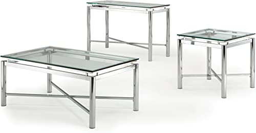 Steve Silver Company Nova Glass Top Sofa Table