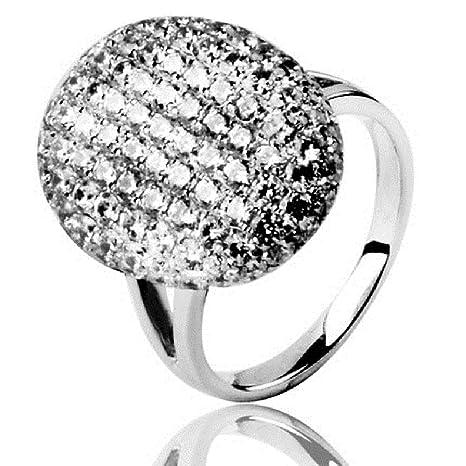 Sunshine Jewelry 100% Real Plata de ley 925 anillo de plata de bodas de compromiso