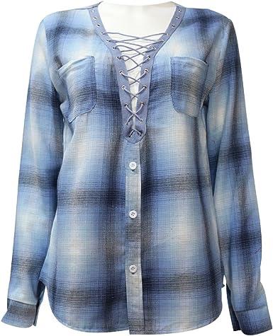 ISSHE Blusa Gasa Blusas Manga Larga Para Dama Camisas de Mujer Blusones Camisetas Largas Juveniles Top Cuello EN V Tops Camisa Fiesta Elegantes Anchas Verano Casual Bonitas: Amazon.es: Ropa y accesorios
