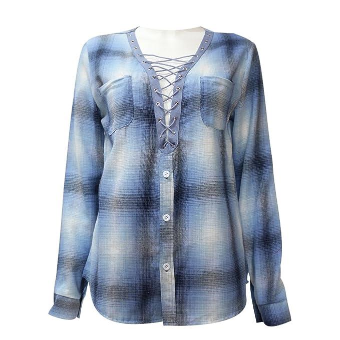 Blusa Gasa Blusas Manga Larga para Dama Camisas de Mujer Blusones Camisetas Largas Juveniles Top Cuello