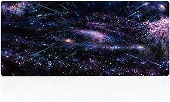 Suaver Gaming Mauspad 900 X 400 X 2 Mm Extended Mousepad Office Tischunterlage Groß Mit Gel Rubber Xxl Mousepad Rutschfeste Gummi Boden Mit Genähte Kanten Meteor Beleuchtung