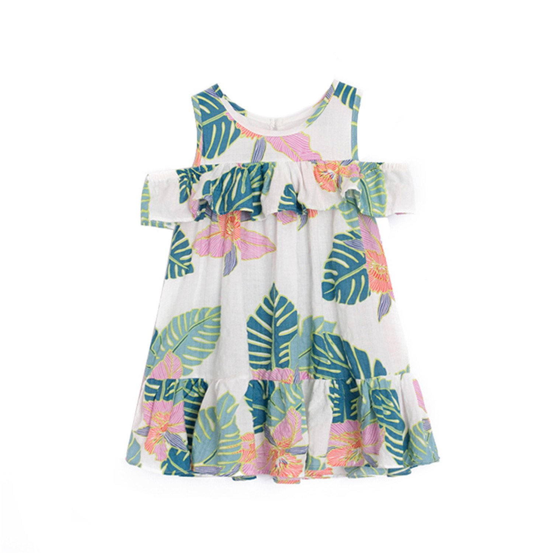dc706720d138 Amazon.com  Nerefy Girls Summer Dresses Ruffles Beach Casual Dresses Kids  Baby Clothes Chiffon Dresses  Clothing