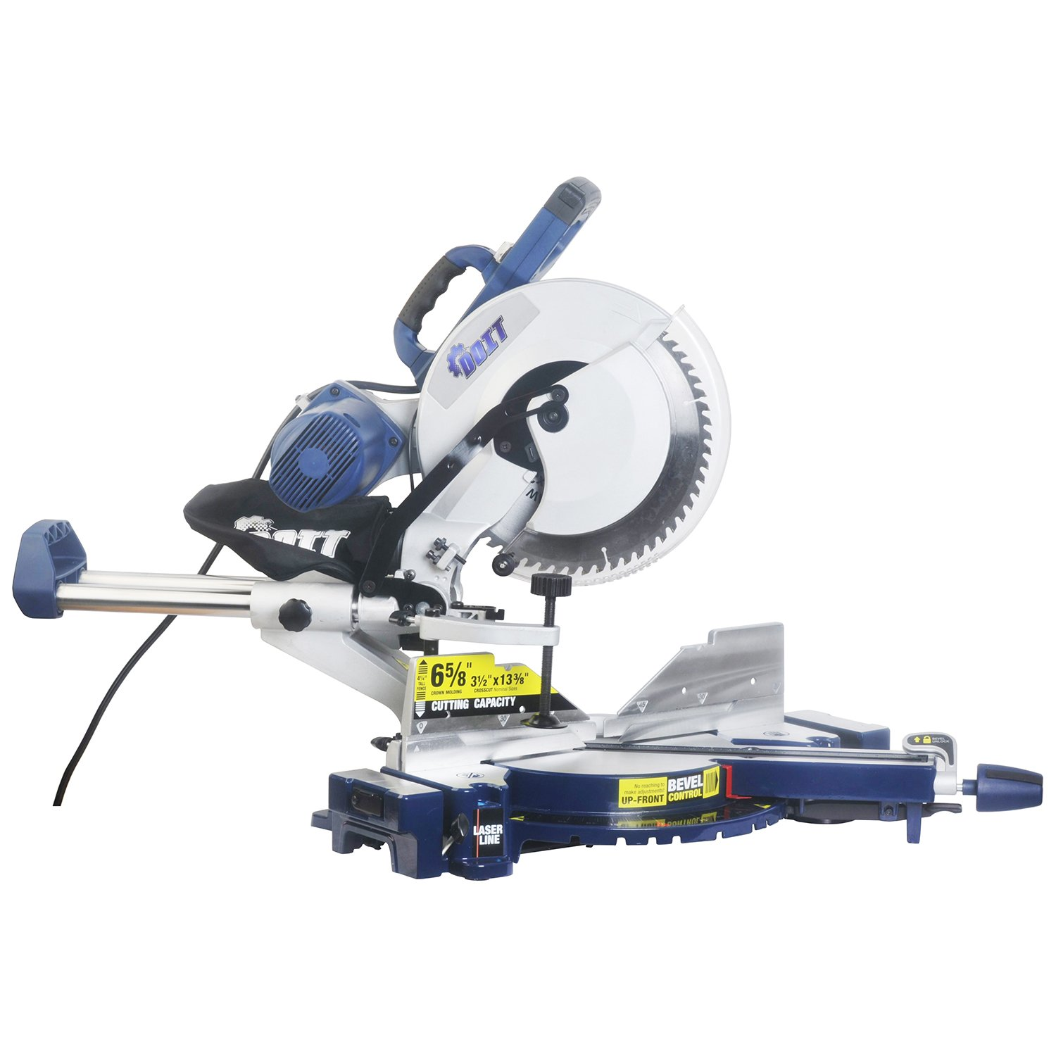 Wonlink 15 Amp 12'' Dual Bevel Sliding Compound Miter Saw with Laser and LED Work Light by Wonlink (Image #4)