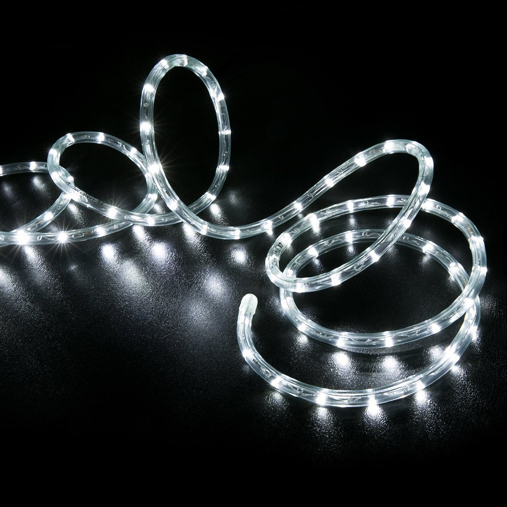 WYZworks 300' feet Cool White 3/8'' LED Rope Lights - Crystal Clear PVC Tube IP65 Water Resistant Flexible 2 Wire Accent Holiday Christmas Party Decoration Lighting by WYZworks (Image #9)