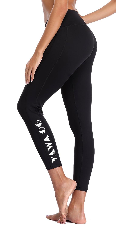Black 2 belamo Women's Tummy Control Yoga Pants Running Leggings Workout Yoga Pants