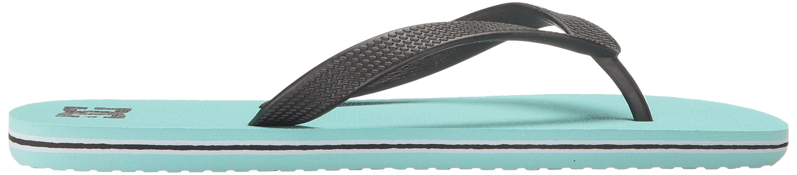 DC Girls' Spray Flip Flop, Turquoise, 6 M US Little Kid by DC (Image #7)