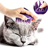 [Soft Silicone Pins] CELEMOON Ultra-Soft Silicone Washable Cat Grooming Shedding Massage/Bath Brush - Safe & No…