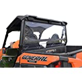 SuperATV Non-Scratch Resistant Clear Rear Windshield for 2016+ Polaris General 1000 / General 4 1000 and 2020+ General…