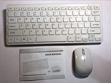Juego de Teclado y Ratón inalámbricos para LG Smart TV 60LA7400, Color Blanco: Amazon.es: Electrónica