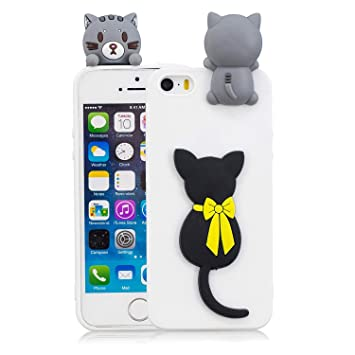 Lomogo Funda iPhone 5S/SE/5, Carcasa Silicona Suave TPU Gel ...