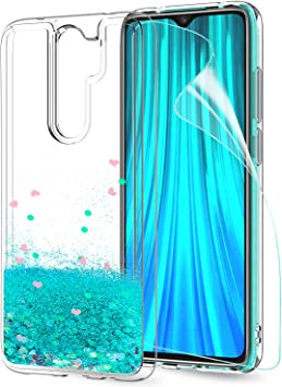 LeYi Funda Xiaomi Redmi Note 8 Pro Silicona Purpurina Carcasa con ...