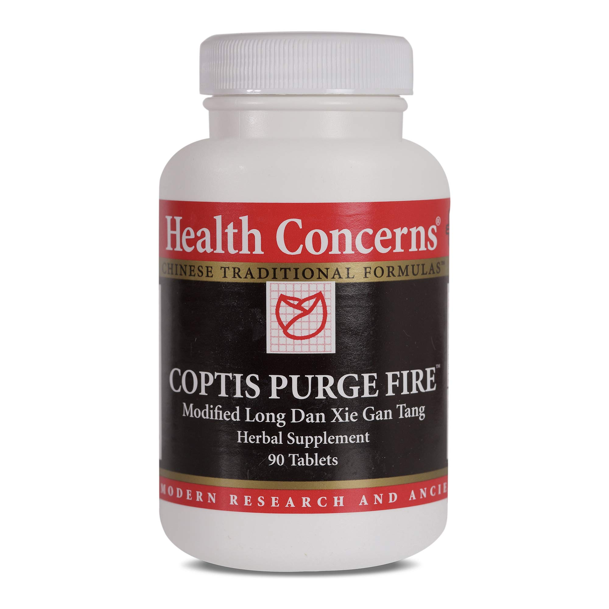 Health Concerns - Coptis Purge Fire Formula - Modified Long Dan Xie Gan Wan Chinese Herbal Supplement - Inflammation and Eye, Ear, and Nasal Infection Relief - with Coptis Rhizome - 90 Tablets per Bottle by Health Concerns
