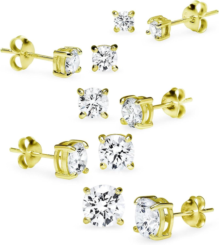 Best Wing Jewelry .925 Sterling Silver 4mm Synthetic-Pearl Stud Earrings