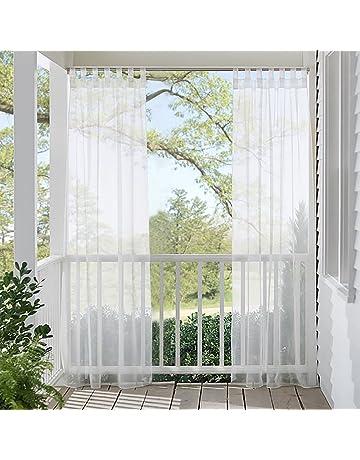 RYB HOME Cortinas y Visillos Largos Blancos Ventanas Dormitorio Exterior Impermeable