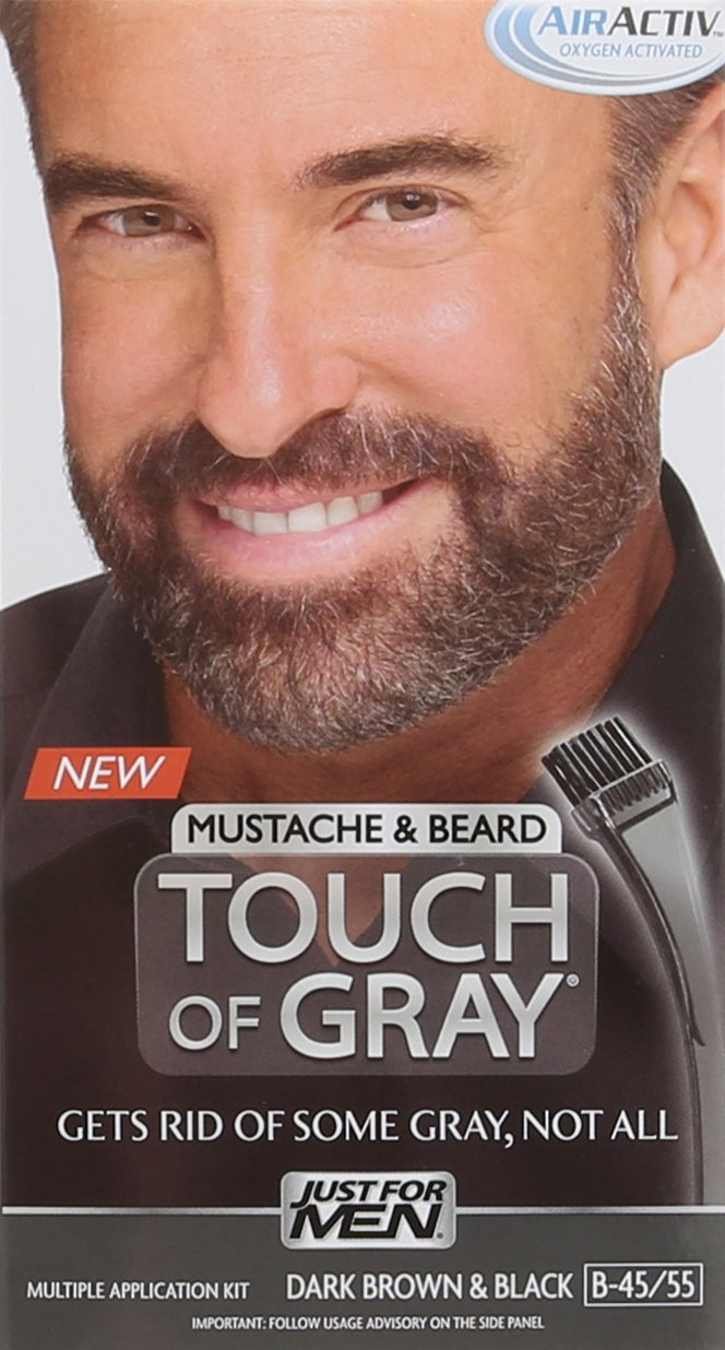 Amazon.com: Just for Men Touch of Gray Mustache and Beard Brush-In ...