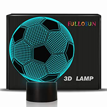 Fussball Geschenke Kinder Nachtlicht Fussball 3d Optische Tauschung Lampe Mit 7 Farben Andern Fussball Geburtstag Weihnachten Valentinstag Geschenkidee