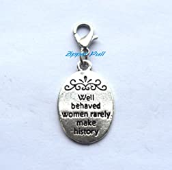 Everything Happens for a Reason Zipper Charm,Zipper Pull Purse Charm Clip On Charms,Lobster Claw Charm for Link Bracelets and Necklaces Zipper Charm Clip on Charm,Backpack Charm