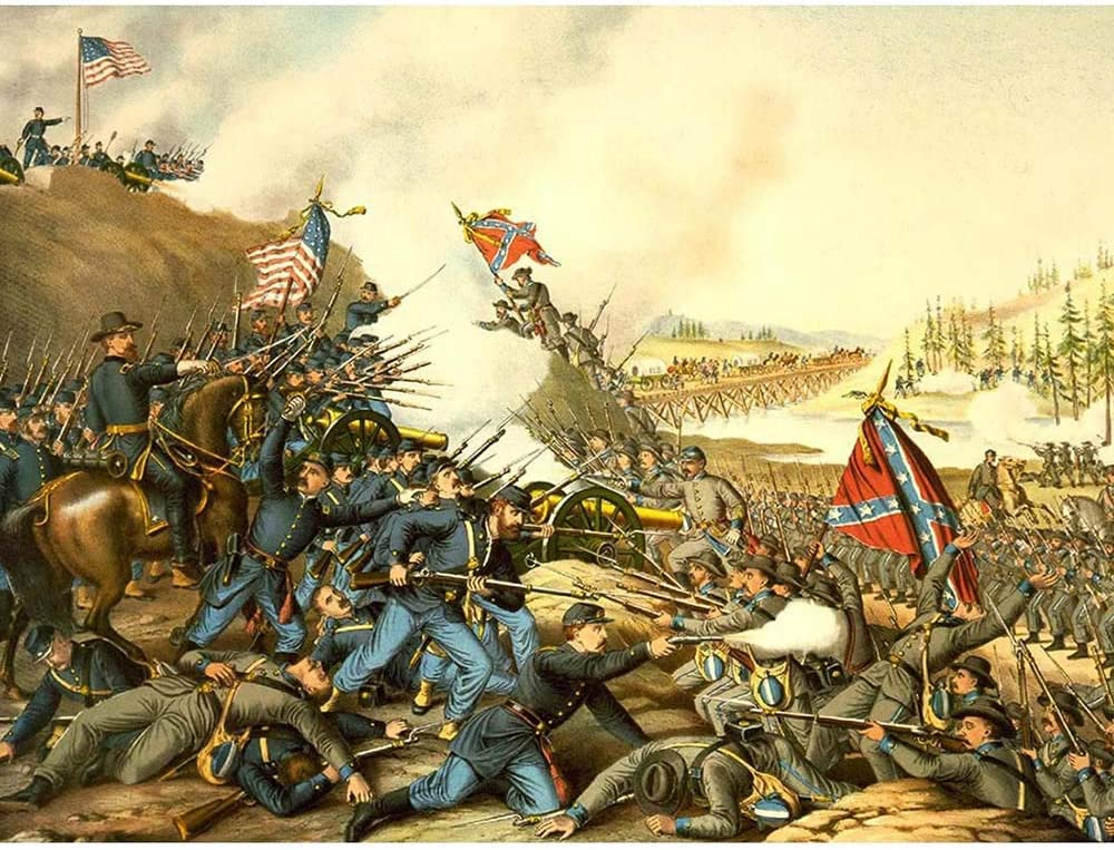 Wee Blue Coo War American Civil Battle Franklin USA Union Confederate Unframed Wall Art Print Poster Home Decor Premium