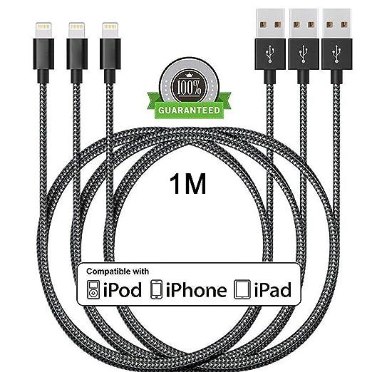 123 opinioni per Cavo Lightning su USB ONSON [3 Pezzi] 1M Cavo Caricabatterie iPhone Caricatore
