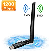 Foscomax WiFi Adapter, 1200Mbps USB 3.0 WiFi Dongle Dual Band 5.8GHz/2.4GHz Wireless Network Adapter with 5dBi Antenna for PC/Desktop/Laptop Support Win 10/8/7/Vista/XP Mac OS 10.6-10.15