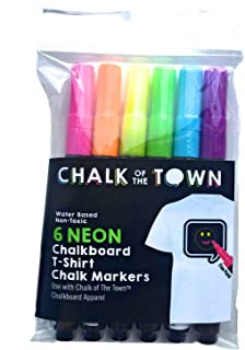 product image for Chalk of the Town 6 Color Chalkboard T-Shirt Chalk Markers