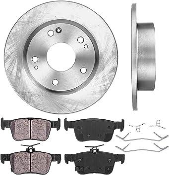 Rotors w//Metallic Pad OE Brakes 2006-2011 Civic EX EX-L |Front Rear