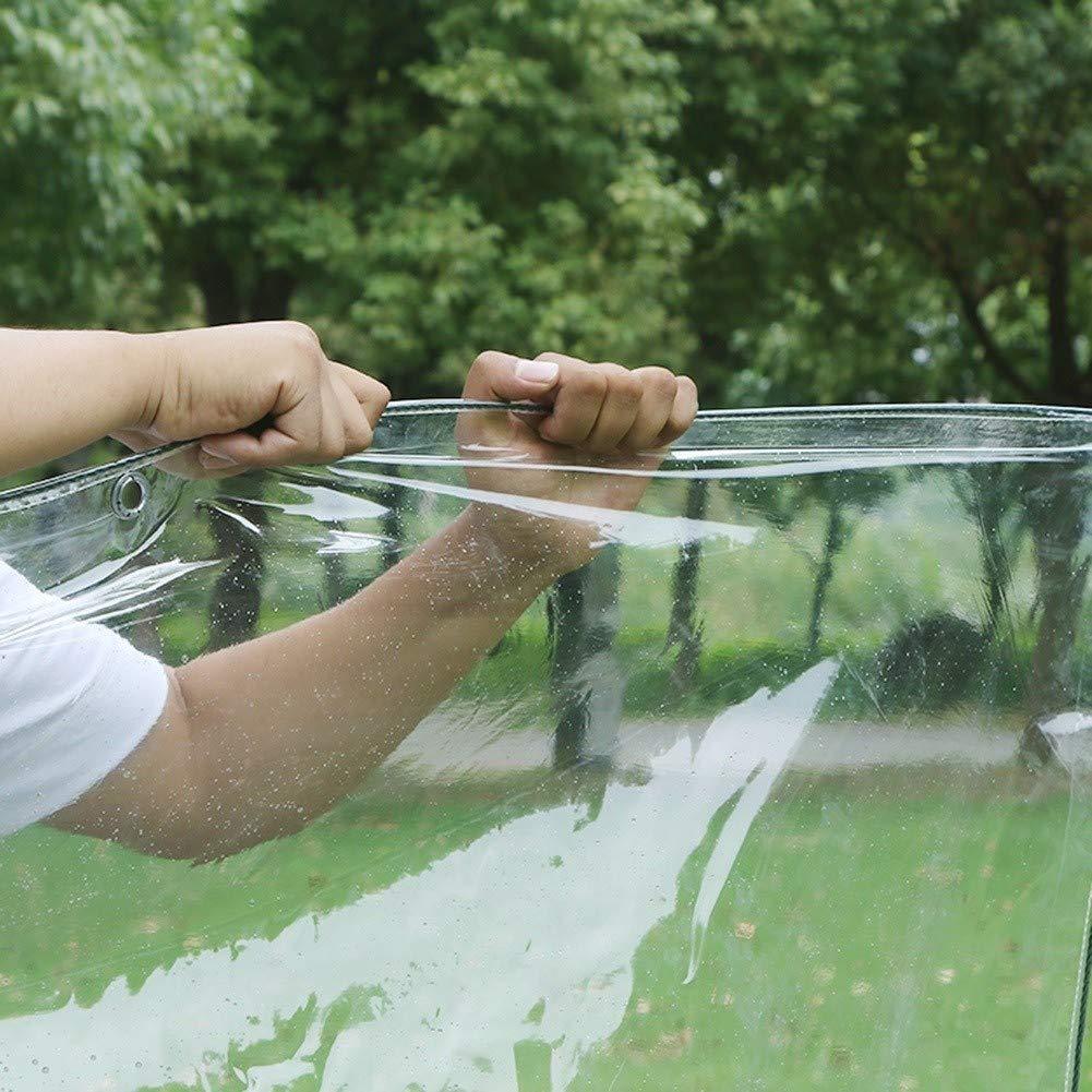 Lona PVC Impermeable Size : 0.5mm-1.4/×2m Espesar l/ámina de pl/ástico Transparente for el Aislamiento Ventana Balc/ón
