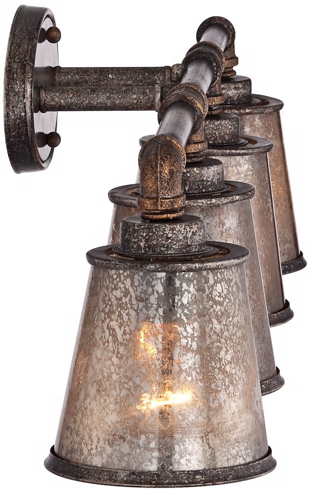 Fillmore 31 3/4'' Wide Industrial Rust Bathroom Light by Franklin Iron Works (Image #6)