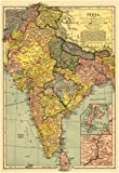India - Panoramic Map Poster 13 x 19in