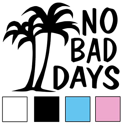 Amazoncom No Bad Days Original Palm Decal Black Automotive