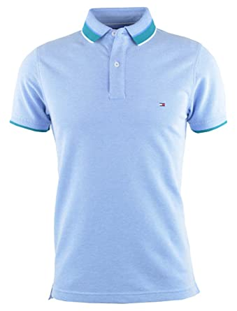 Tommy Hilfiger - Polo - para Hombre Azul Azul Large: Amazon.es ...