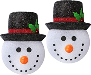 Hxezoc 2 Pack Christmas Snowman Porch Light Covers Good Light Transmission Lamp Covers for Front Yard, Garages, Garden, Porch Lamp Christmas Decoration