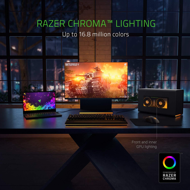 Razer Core X Chroma Aluminum External GPU Enclosure (eGPU): Compatible w/  Windows & Mac Thunderbolt 3 Laptops - NVIDIA /AMD PCIe Support - 700W PSU -