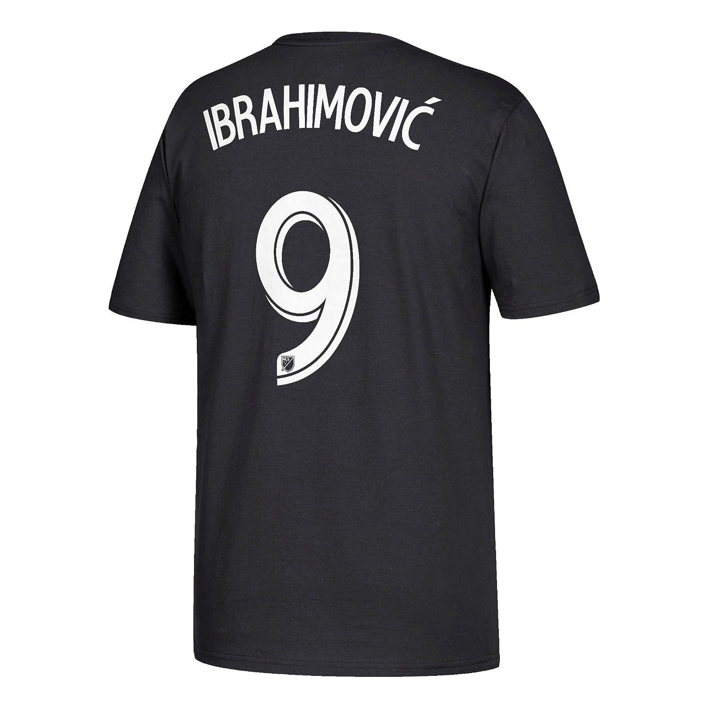 a3b022b0283 Amazon.com : adidas Zlatan Ibrahimovic LA Galaxy Men's Black Player Name  and Number T-Shirt XX-Large : Clothing