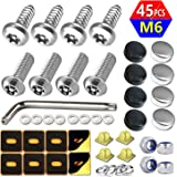 Aootf Stainless Steel License Plate Screws -Anti Theft Frames Fasteners Screws Tamper Resistant Kits for License Plates…