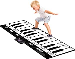 Click N' Play Gigantic Keyboard Play Mat, 24 Keys Piano Mat, 8 Selectable Musical Instruments + Play -Record -Playback -Demo-mode - CNP0199