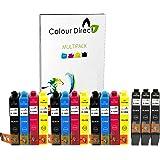 Colour Direct Lot de 15 cartouches d'encre double capacité pour imprimante Epson SX235W 6 x noir/3 x cyan/ 3 x magenta/3 x jaune