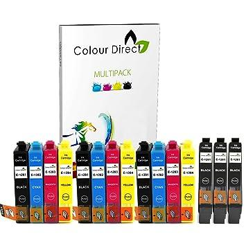 Colour Direct 15 XL Cartucho de Tinta para Epson Stylus S22 SX125 SX130 SX230 SX235W SX420W SX425W SX430W SX435W SX438W SX440W SX445W BX305F BX305FW ...