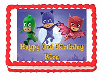 PJ Masks Party Edible Cake Image Topper Frosting Sheet