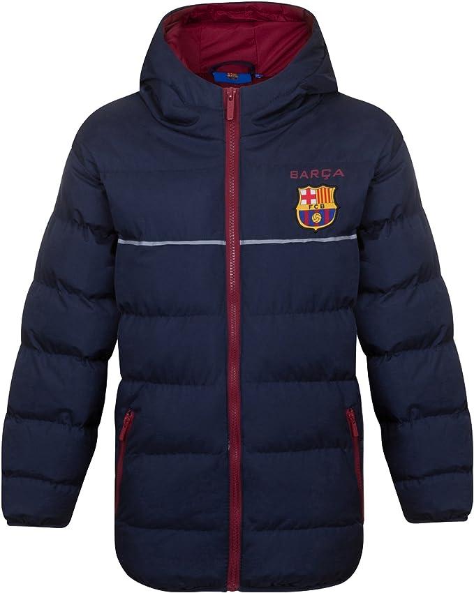 Geschenk f/ür Fu/ßballfans Herren Winter-Steppjacke mit Kapuze Offizielles Merchandise FC Barcelona