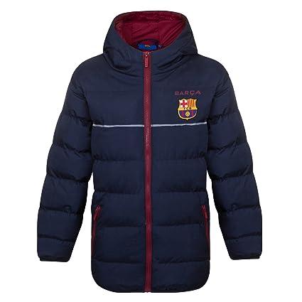 FC Barcelona - Plumífero acolchado oficial con capucha - Para niño  Amazon. es  b5b0ff61a6a16