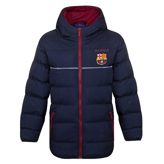 FC Barcelona - Plumífero acolchado oficial con capucha ...