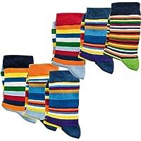 Pack de 6 calcetines infantiles, sin sustancias nocivas, certificado Öko-Tex Standard 100, liso o a rayas