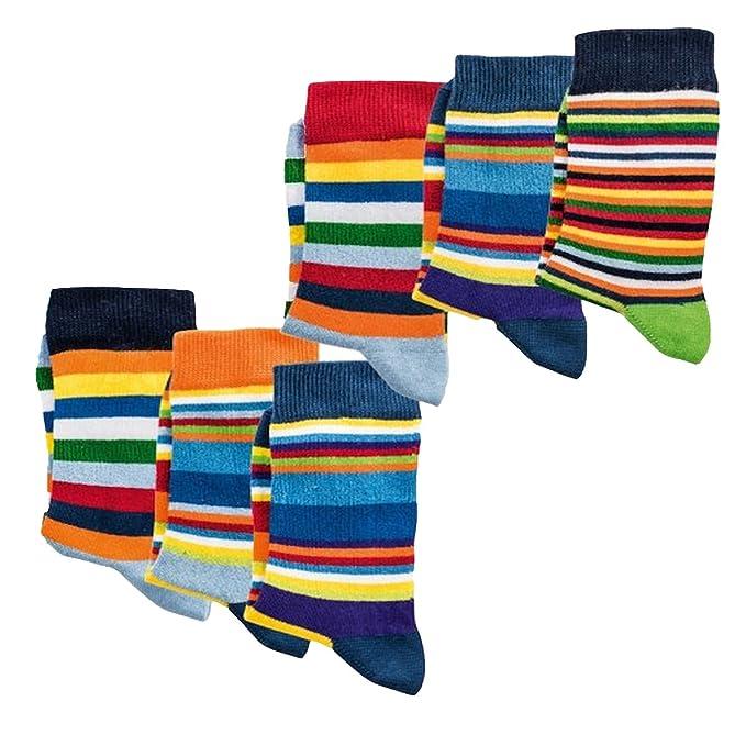 Pack de 6 calcetines infantiles, sin sustancias nocivas, certificado Öko-Tex Standard 100, liso o a rayas: Amazon.es: Ropa y accesorios
